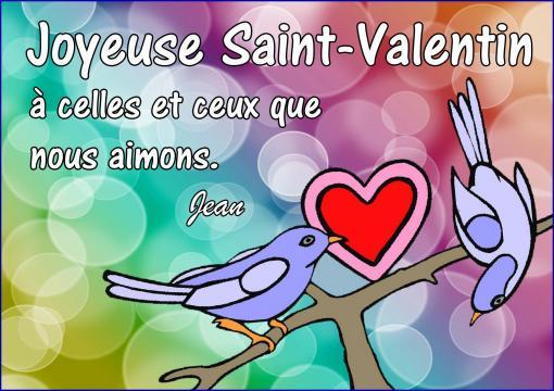 Joyeuse Saint-Valentin...