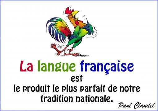 La langue française...